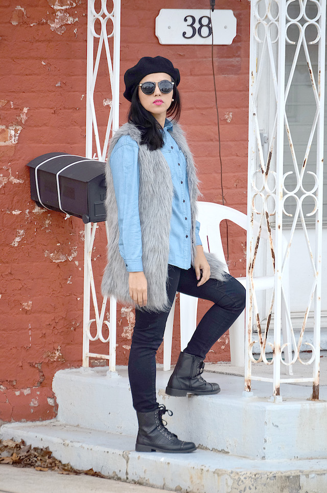 Casual Weekend- Mari Estilo- Outfit con Chaleco - Fur Vest -Denim outfit