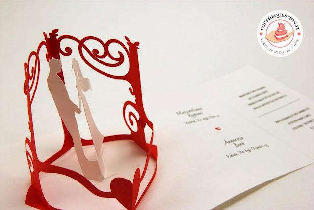 partecipazione di matrimonio pop-up in stile vintage. Fonte immagine ...