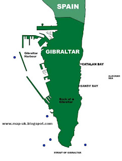 Gibraltar Region Political Map