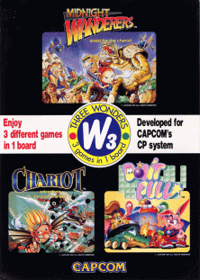 Three Wonders arcade game portable flyer