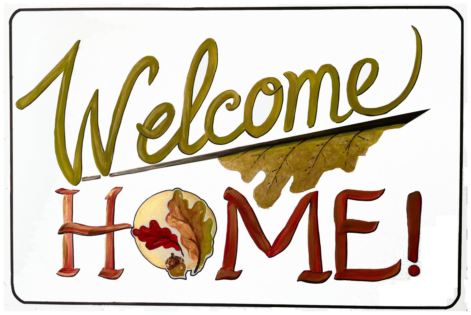 free art print of plain welcome back sign on yellow wall freeart