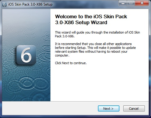 iOS Skin Pack 3.0 for Windows 7 and iOS6 Skin Pack 4.0 for Windows 8 (Multi)