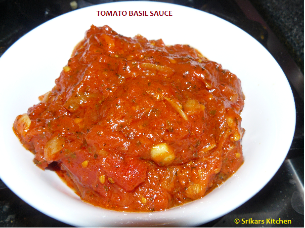 TOMATO BASIL SAUCE- PASTA TOMATO SAUCE