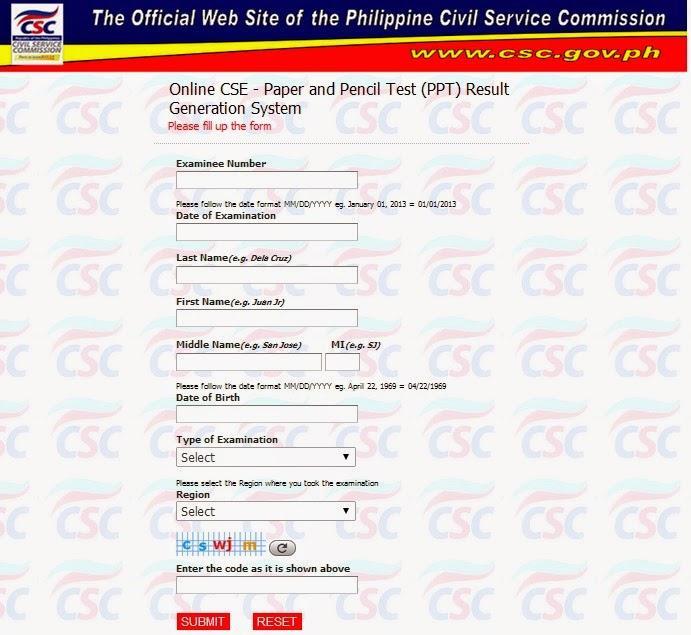 Online CS Rating April 2014 exam