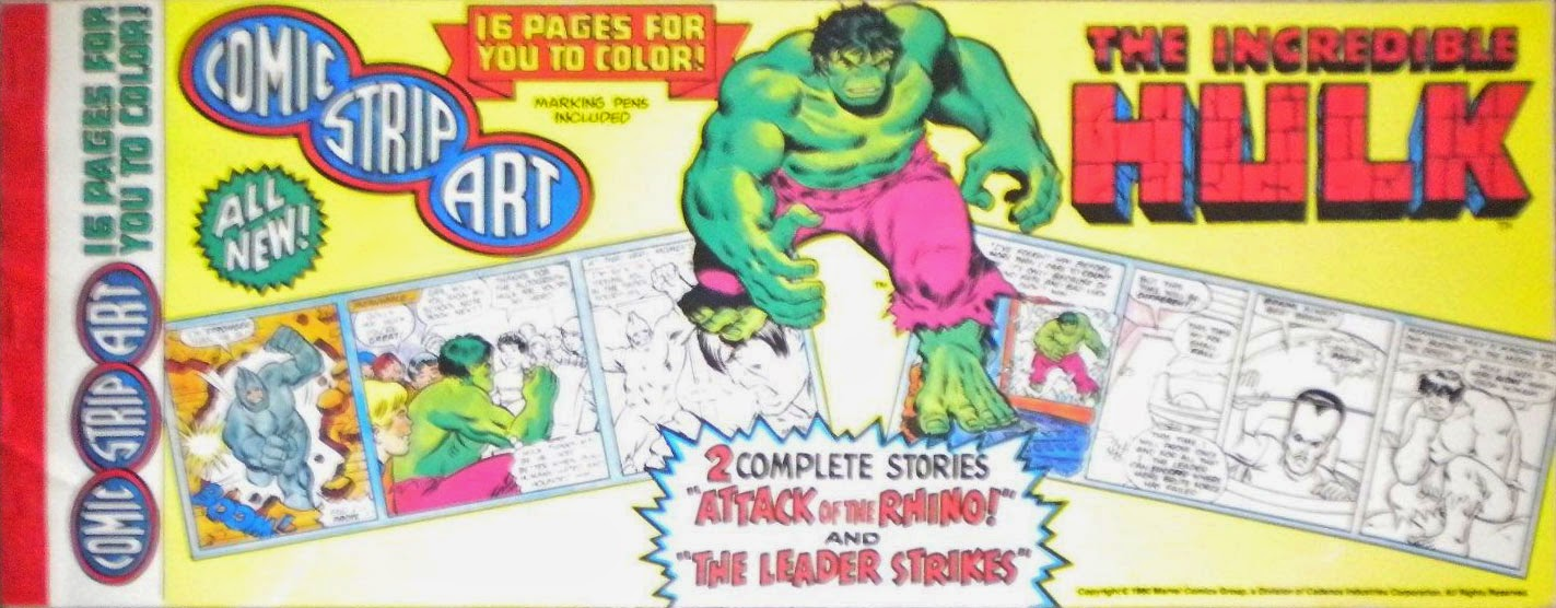 Incredible hulk coloring book pages - It S 1980 Coloring Book Featuring The Hulk Except It S Formatted Like A Comic Strip And Pretty Short With Only Sixteen Pages And While The Illustrations