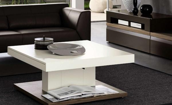 Meja Kayu Modern untuk Ruang Tamu Minimalis