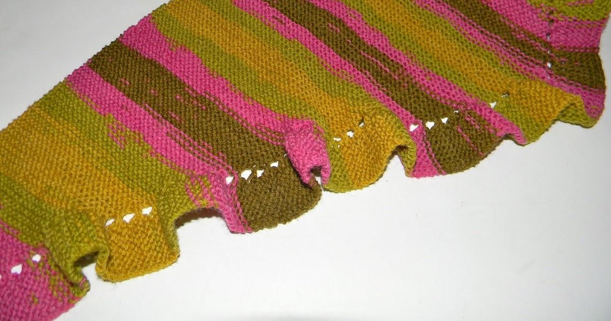 Louise Knits Ruffled Scarf Pattern