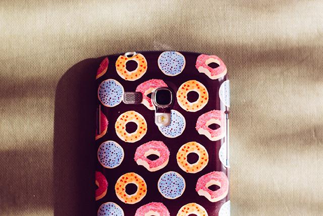doughnut pattern phone case by laura redburn