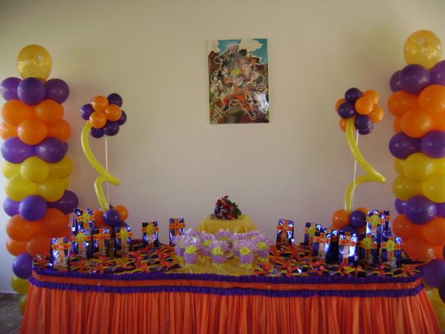 decoracao festa naruto:Detalhes com Balões: Festa do Naruto!!!!!