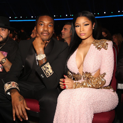 MEEK MILLS AND NICKI MINAJ AT AMERICAN MUSIC AWARDS