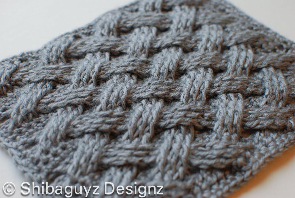 вязание спицами шарф с плетенкой