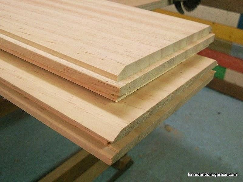 Tablas de madera machihembradas. Enredandonogaraxe.com
