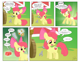 Equestria Daily: Comic: Apple Blooms / Lights Out