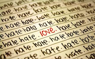 Word Love Hate HD Wallpaper