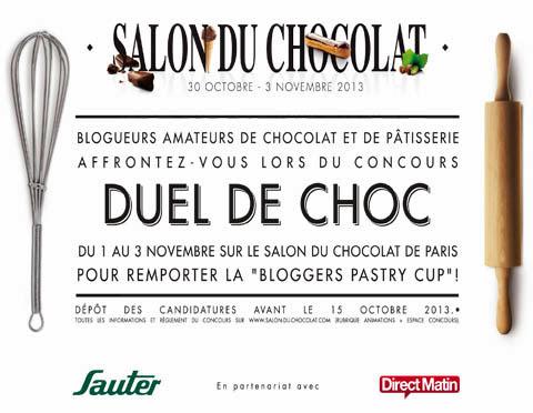 salon du chocolat paris, concours Duel de choc