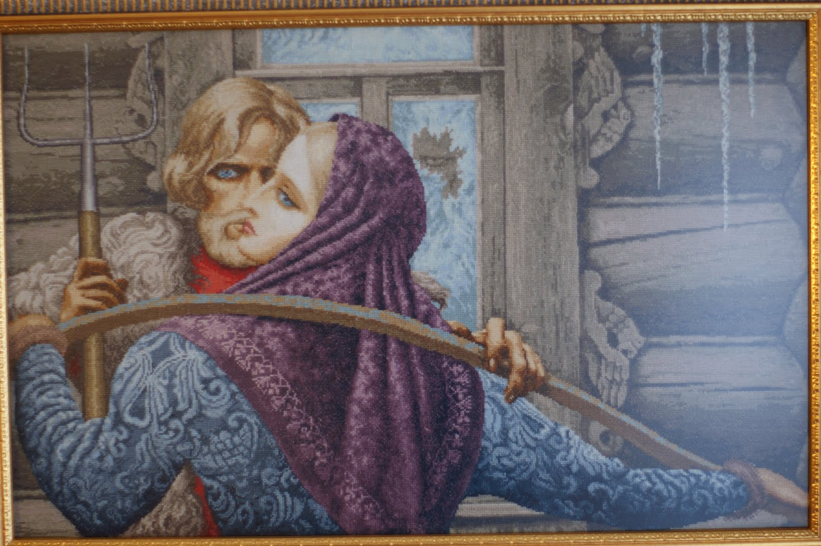 Вышивка крест по картинам васильева