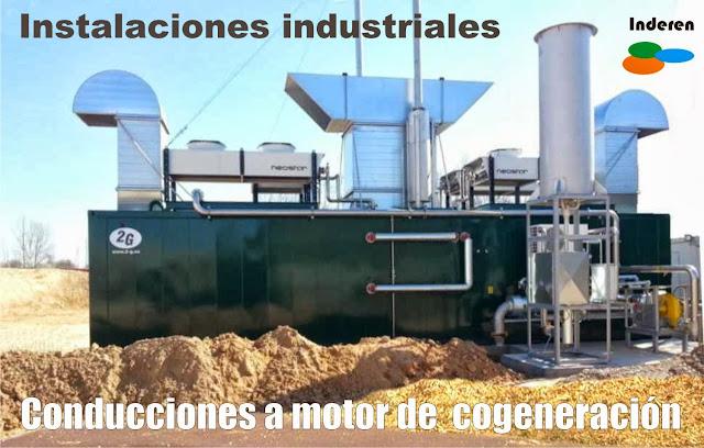 Instalacion de conducciones a motor de cogeneracion