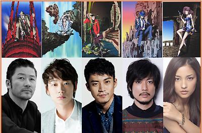 Foto parta pemeran dalam Lupin The Third Live Action Movie yang akan tayang 2014 mendatang