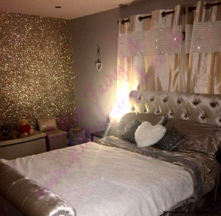 CHAMPAGNE Glitter Wallcovering – Glitter Fairy Uk