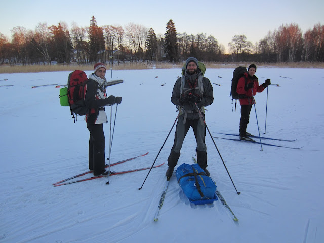 A skiing expedition