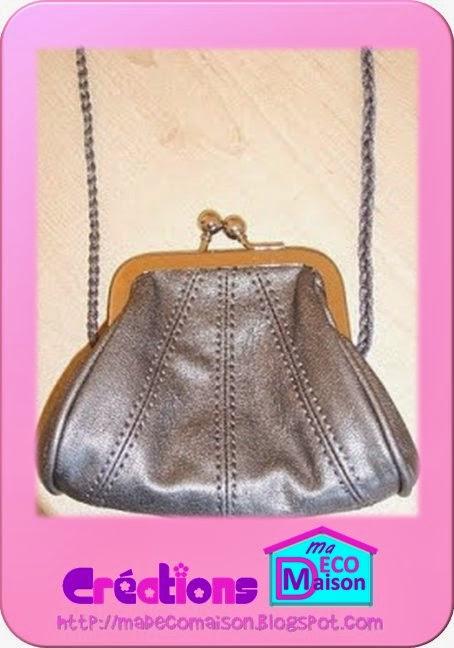 sac porte-monnaie avec cordelette tressée