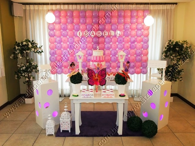 decoracao de festa infantil barbie butterfly
