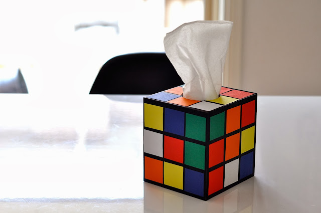 how to make rubik's rubix cube tissue box cover holder the big bang theory