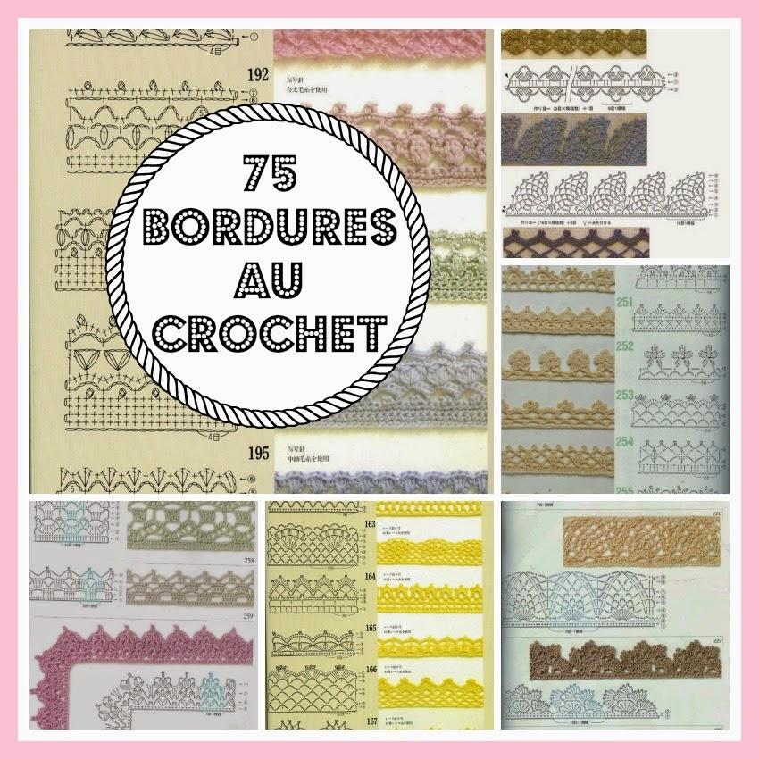 Mes favoris tricot crochet 75 bordures au crochet - Bordure de finition au crochet ...