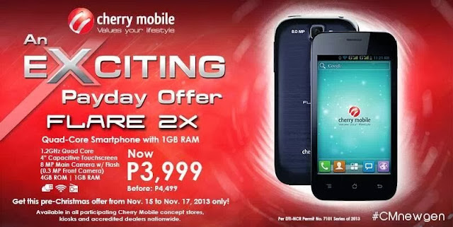 cherry mobile flare 2x payday sale philippines