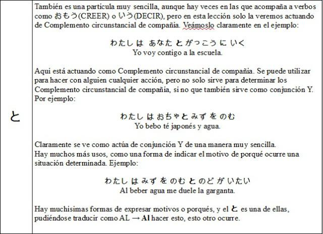 Partículas japonés 6