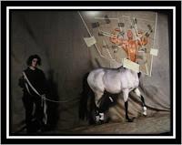 Expo Jean Paul Goude Goudemalion Arts Déco Paris photo Thierry Mugler centaure