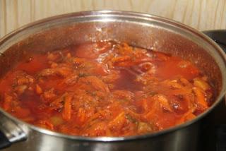 Заготовки на зиму - закуска из кабачков и моркови