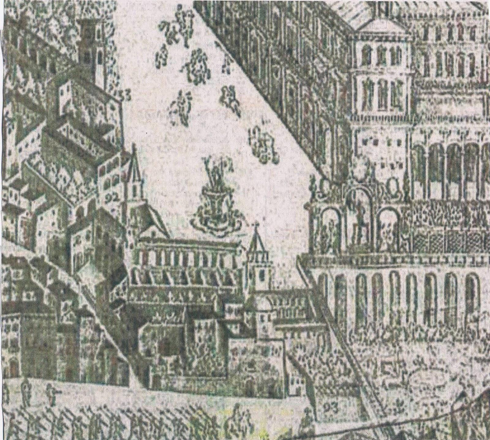 Particolare di Napoli in una tavola di Alessandro Baratta