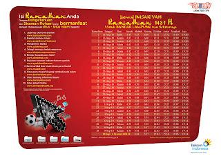 Jadual Imsakiyah Ramadhan 1433H/2012M Lampung