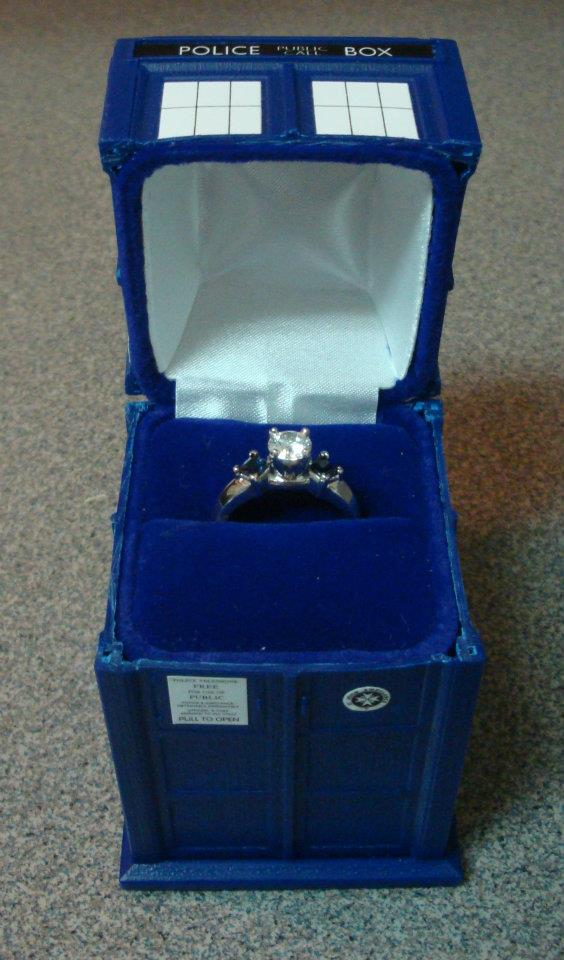 Doctor Who TARDIS Engagement Ring