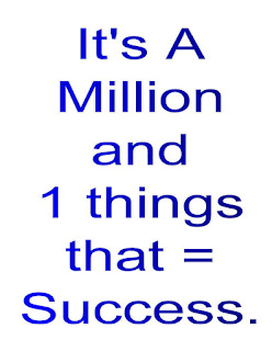It's A Million and 1 Things that = Success.