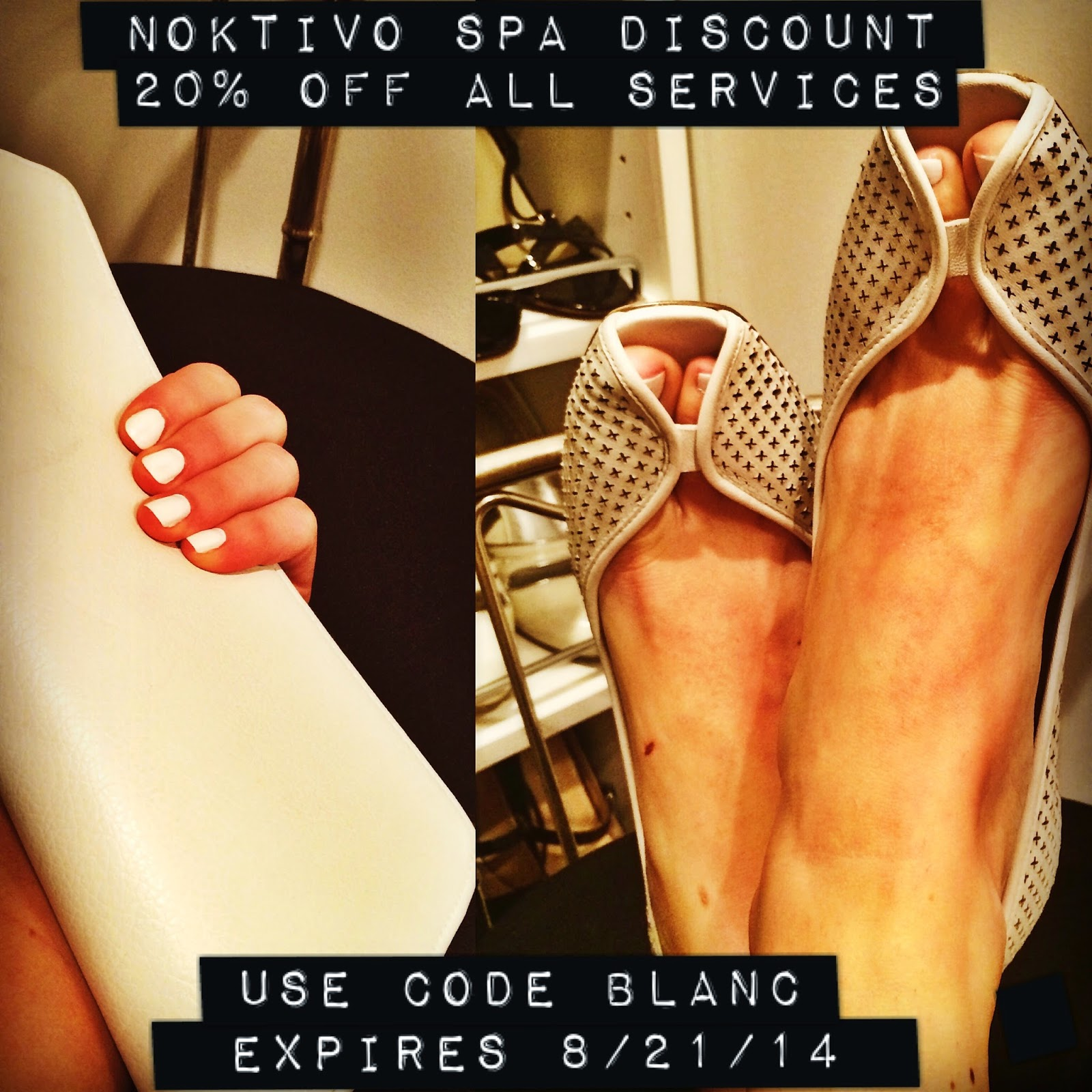 Diner en Blanc Noktivo Spa Discount | all dressed up with nothing to drink...