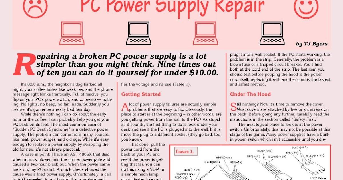 Psu  Power Supply Unit  Circuit Board Diagram And Repair Guide