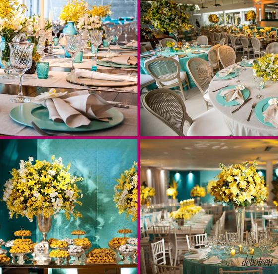 decoracao de casamento azul tiffany e amarelo : decoracao de casamento azul tiffany e amarelo:Camila Quintana Assessoria de Eventos: Azul Tiffany & Companhia