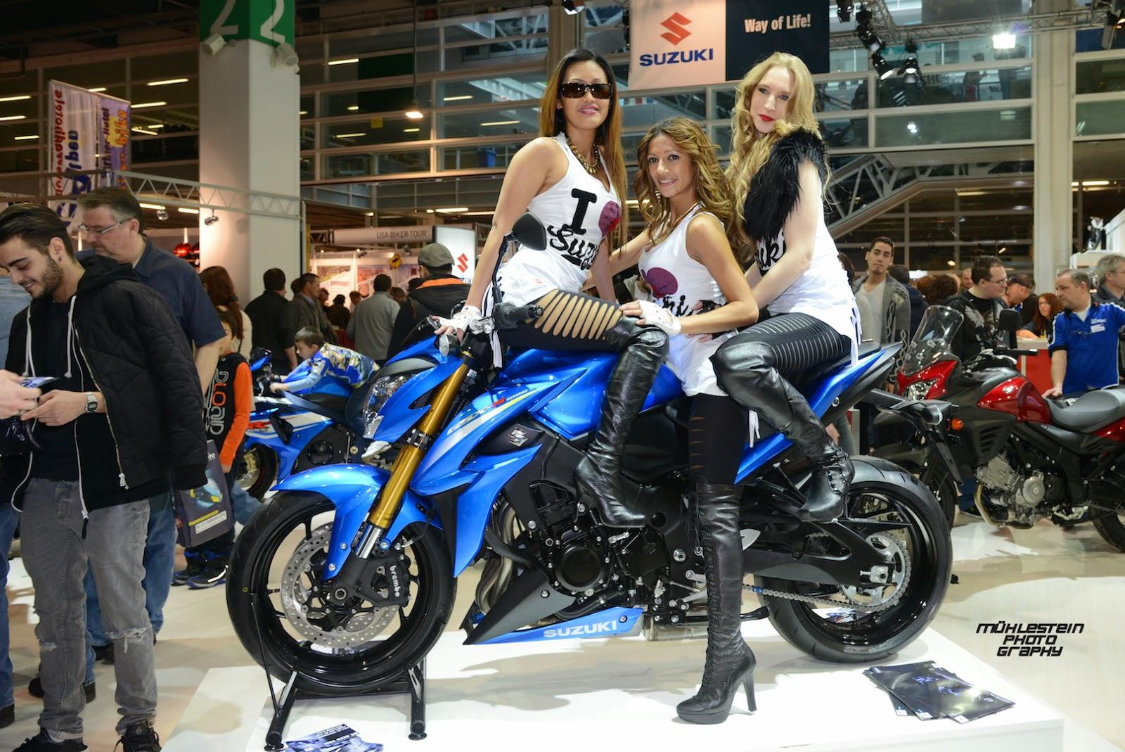 swiss moto 2015_swiss custom customizing tuning show_suzuki girls - Moto Tuning