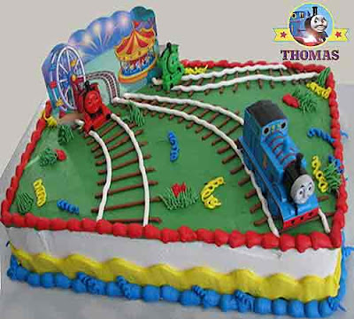 Island of Sodor carnival childrens cake cartoon characters Thomas the train cake decorations topper