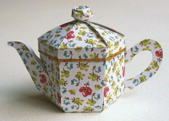Teapot Box Template A miniature teapot box: