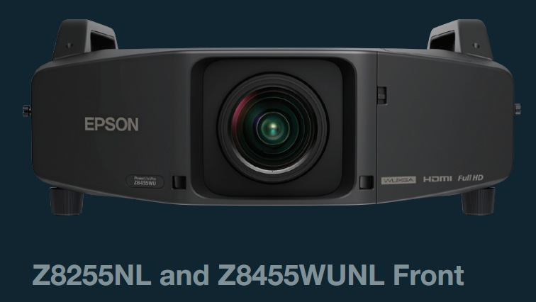 Epson PowerLite Pro Z8455WUNL and Z8255NL Installation Projectors Epson PowerLite Pro Z Series Installation Projector Line has 5 new models