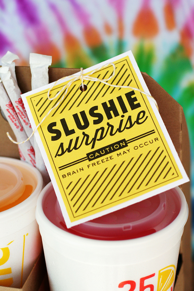 Slushie surprise printable- a super cute gift idea from the Eighteen25 girls!