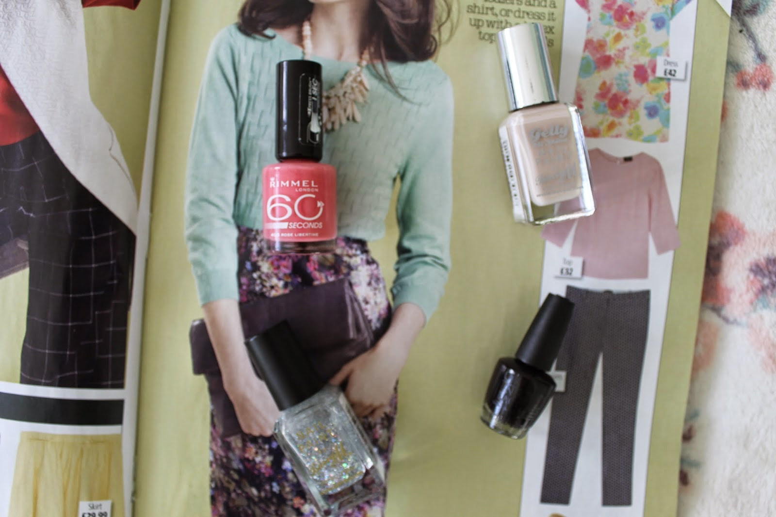 Nails of the Month with Rimmel London, Barry M and O.P.I