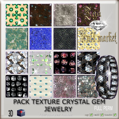 PACK TEXTURE CRYSTAL GEM JEWELRY