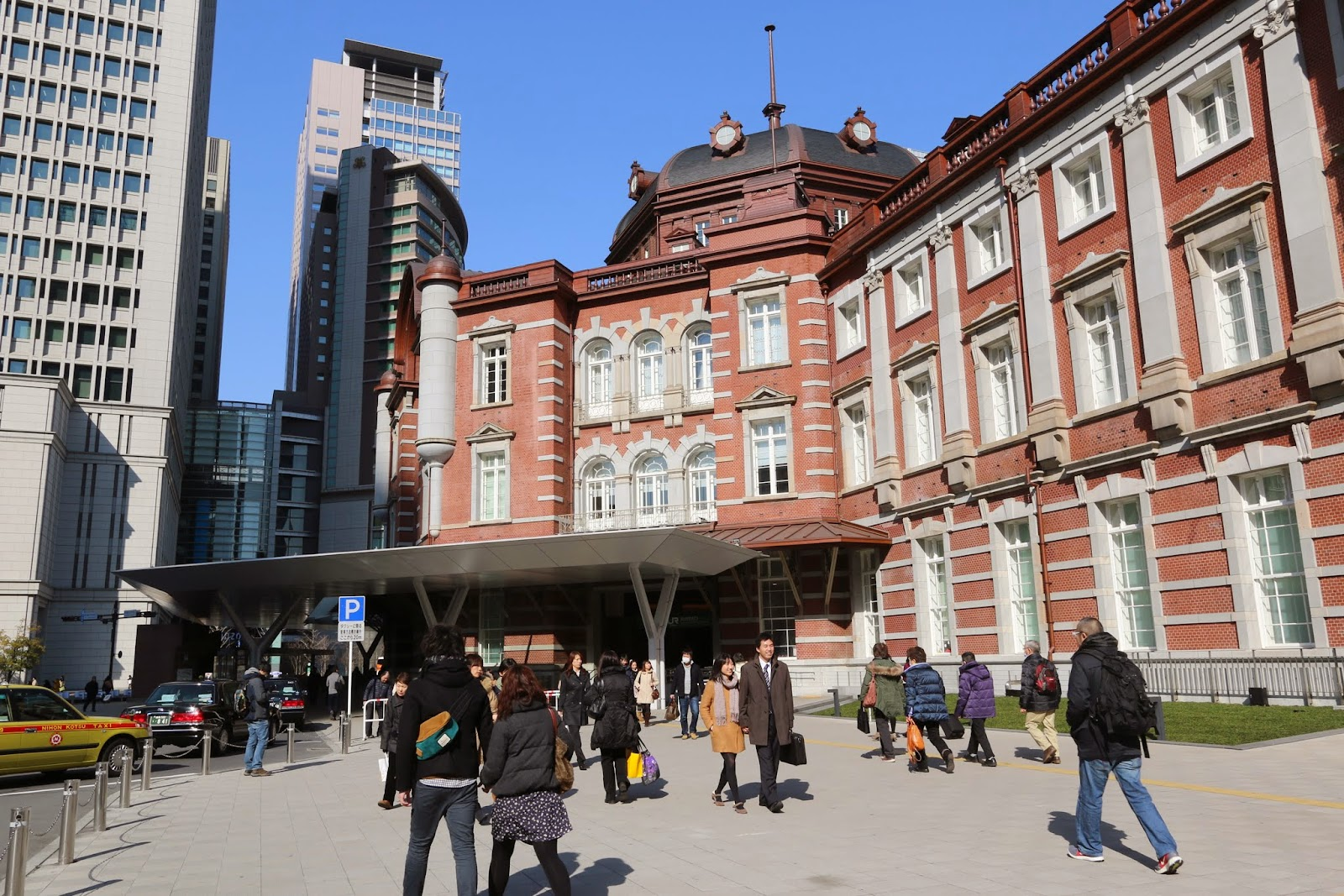 A 100 years old Tokyo Station is the busiest station in Japan, with Tokyo Metro and Tokaido Shinkansen (JR high-speed bullet train) lines