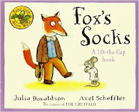 Fox's socks- lift the flap books - perfect for travel