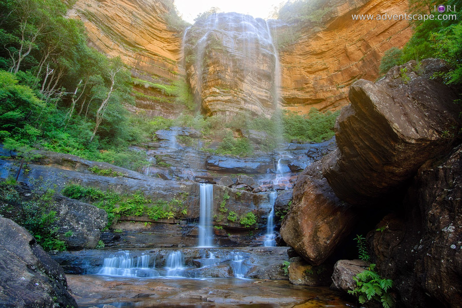 Australia, Australian Landscape Photographer, Blue Mountain, Katoomba, New South Wales, NSW, Philip Avellana, Princess Rock, waterfalls, Wentworth Falls, adventscape