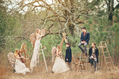 angel inspired wedding photo shoot wedding colours